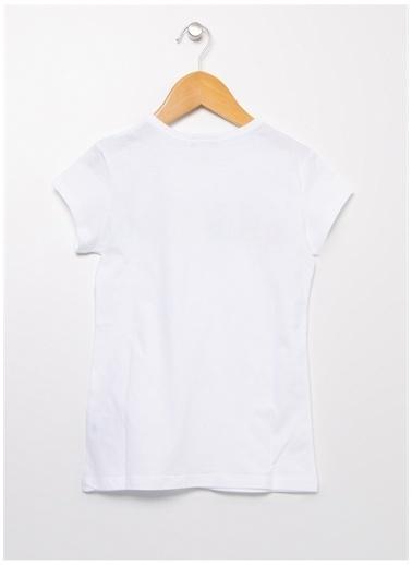 Benetton Benetton 322113096C1539 Baskılı Kadın T-Shirt Beyaz